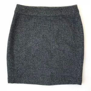 Banana Republic Herringbone Tweed Pencil Skirt